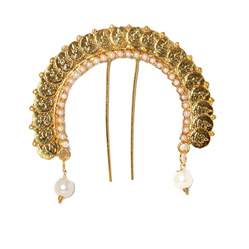 fd79276371d7f Buy Hayagi Laxmi Coin Traditional Hair Pin | Ambada | Hair Brooch ...