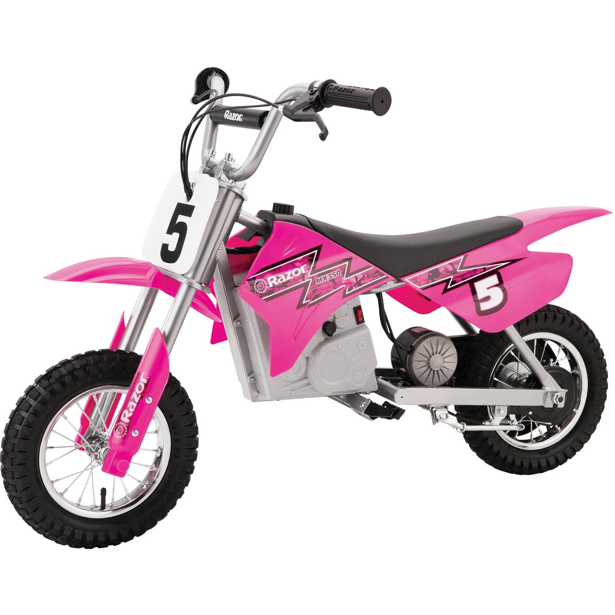 Razor MX350 24-Volt Dirt Rocket Electric Motocross Mini Bike - Pink