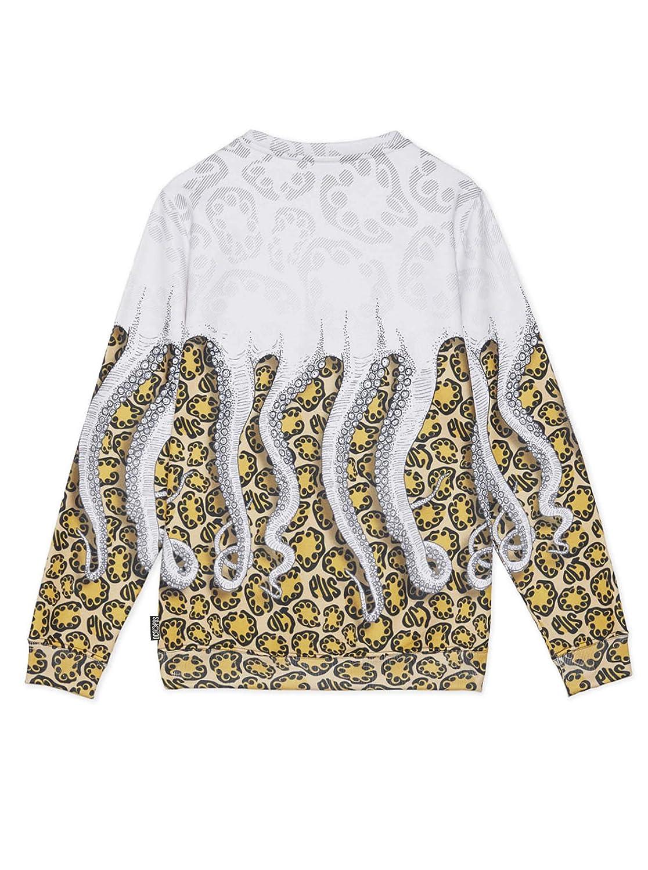 Octopus Felpa Jaguar White Yellow Uomo