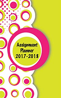 product image for House of Doolittle 2017-2018 Weekly Academic Planner Assignment Book, Circles, 5 x 8 Inches, August - August (HOD274RTG68-18)