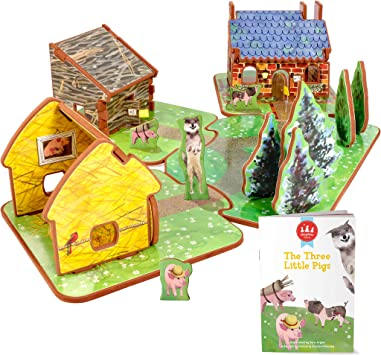 Amazon.es: Storytime Toys - Conjunto de casa de Juguete y Cuento de los Tres cerditos: Juguetes y juegos