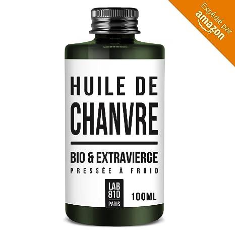 HUILE DE CHANVRE BIO 100% Pure et Naturelle, Pressée à Froid & Extra Vierge