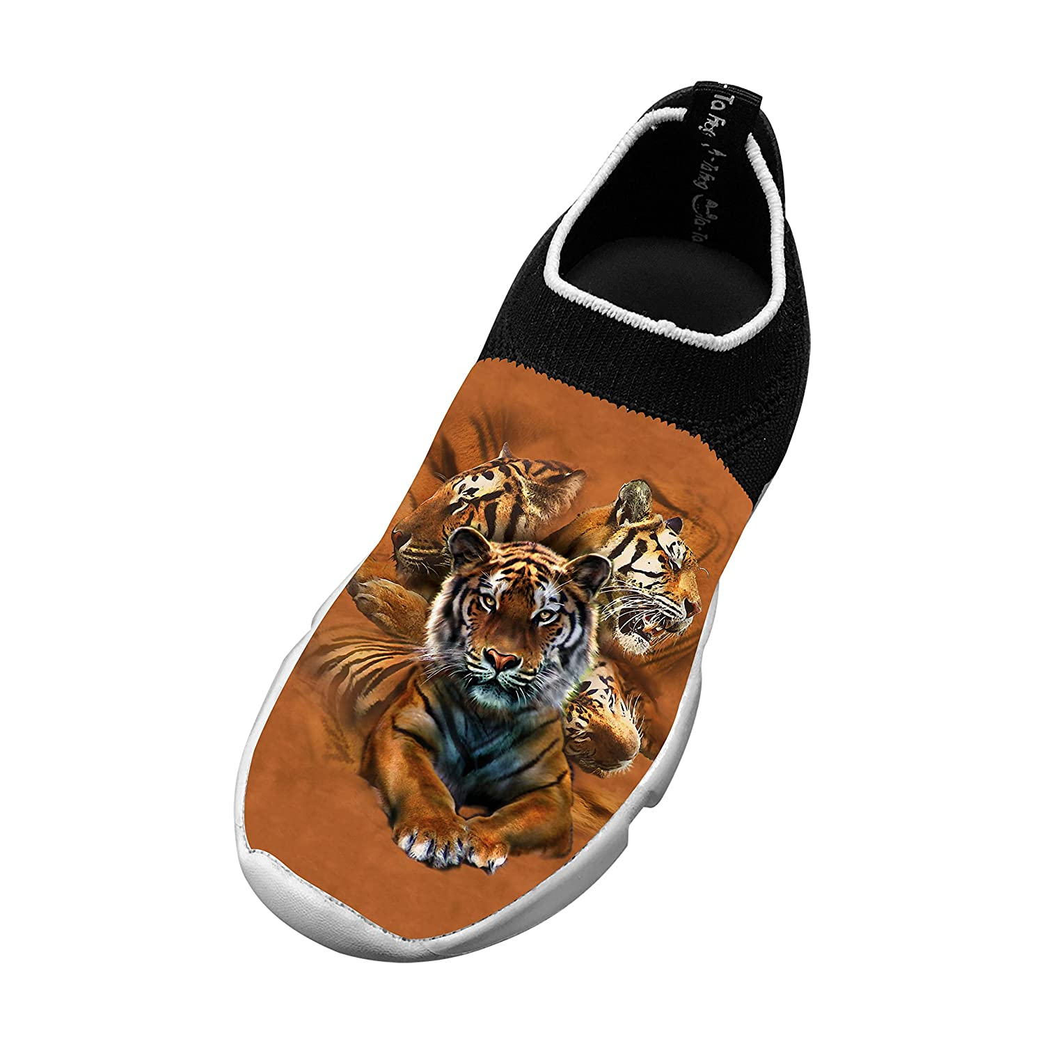 New Sports Flywire Weaving Jogging Shoes 3D Make Your Own With Resting Tiger Collage For Unisex Children