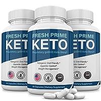 (3 Pack) Fresh Prime Keto Pills Shark Tank 800mg, Fresh Prime Keto Weight Loss Capsules BHB Supplement, Keto Fresh Prime Diet Pills BHB Ketones Slim Pills for Energy, Focus for Men Women