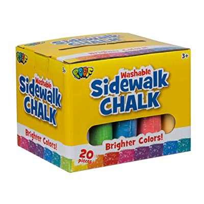 POOF 20-Piece Sidewalk Chalk: Toys & Games