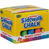 Poof Side Walk Chalk (Multicolor, 20 Pieces)