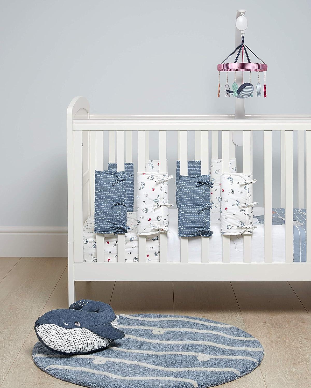 Pink Millie /& Boris Mamas /& Papas Cot Bar Bumpers Nursery Bedding