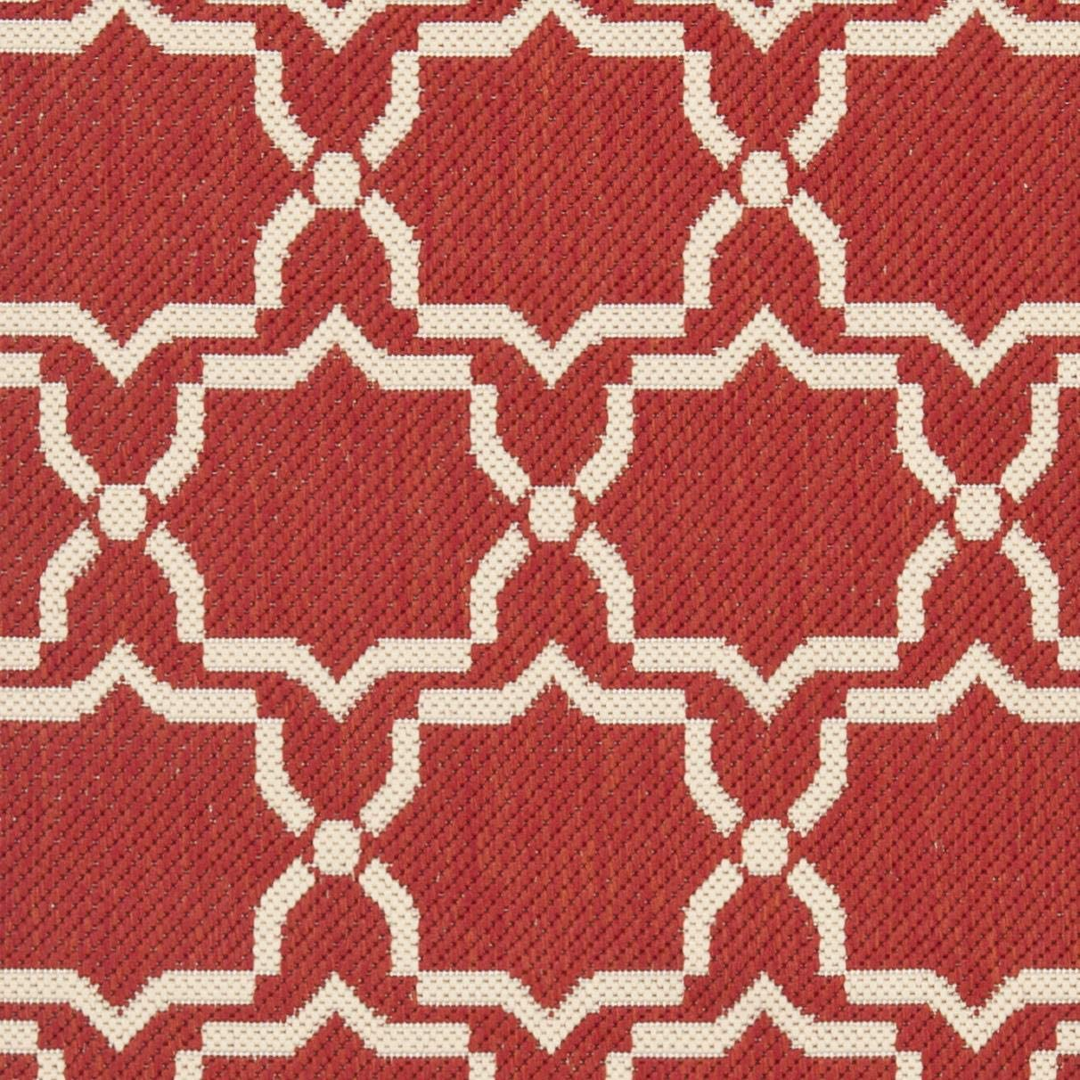 Safavieh Courtyard Collection CY6916-248 Red and Bone Indoor Outdoor Area Rug 2 x 3 7