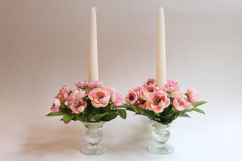 STEFANAZZI Juego completo con velas de flores coraz/ón rosas decoraci/ón para mesa regalo San Valent/ín fiesta de la madre aniversario
