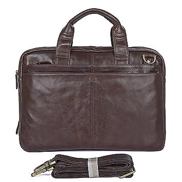 AB Earth® Leather Men's Dark Brown Laptop Bag Briefcase Handbag ...