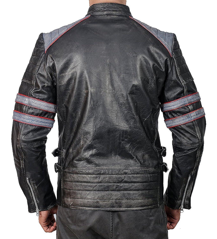 9e2513b8f6ef Men's Cafe Racer Leather Jacket | Cafe Racer Jacket for Men's | Men's Biker  Leather Jacket: Amazon.co.uk: Clothing