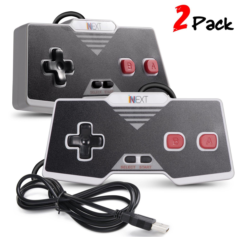 iNNEXT 2 x NES Gamepad USB Classic NES PC Controller Spiel Joypad fü r Windows-PC Mac IN-Y-D002-096*2-T