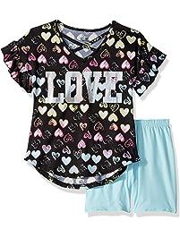 8a9e5a33c8d3 One Step Up Girls' Soft Knit Top and Short Set