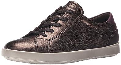 ECCO Footwear Womens Aimee Sport Tie Fashion Sneaker       Licorice Metallic  Mauve       38 EU