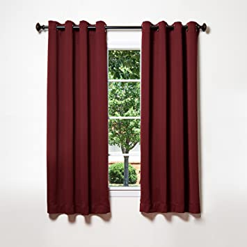 Curtains Ideas burgandy curtains : Amazon.com: Best Home Fashion Thermal Insulated Blackout Curtains ...