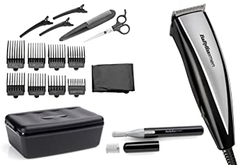 Incredible Babyliss Home Hair Cutting Kit For Men 20 Piece Black Stainless Short Hairstyles Gunalazisus
