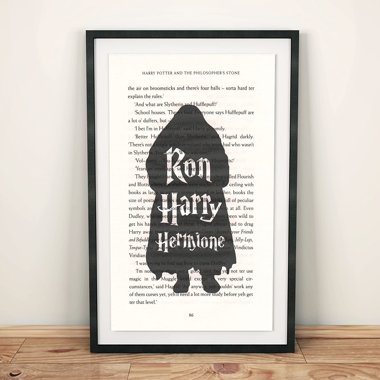 Diseño de Harry Potter Ron Harry Hermione en libro página de ...