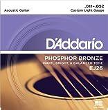 D'Addario EJ26 Satz Bronzesaiten für Akustikgitarre 011' - 052'