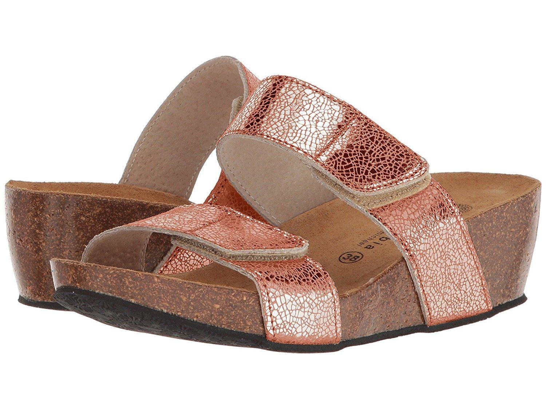 Eric Michael Women's LIAT Sandals,Rose Metallic,39 M EU