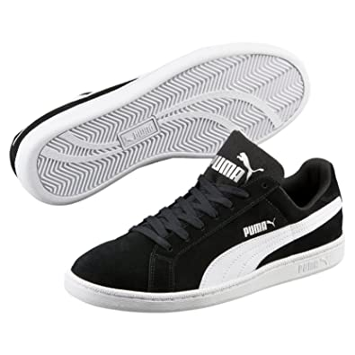 e9a771147a1 Puma Adult s Smash SD Low-Top Trainer Sneakers - Black White