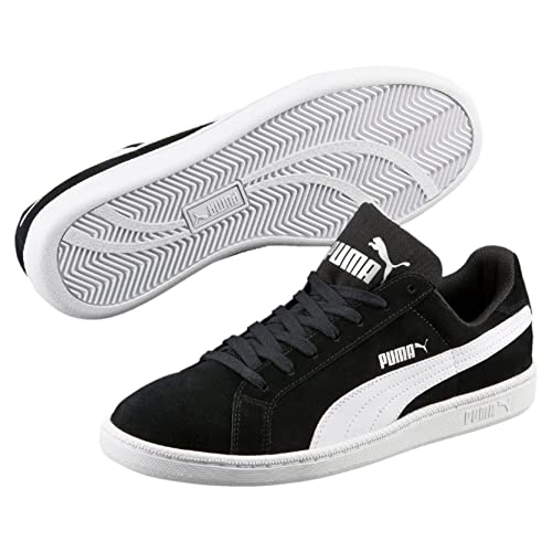 Puma Smash L, Zapatillas Unisex Adulto, Negro (Black/White), 44.5 EU