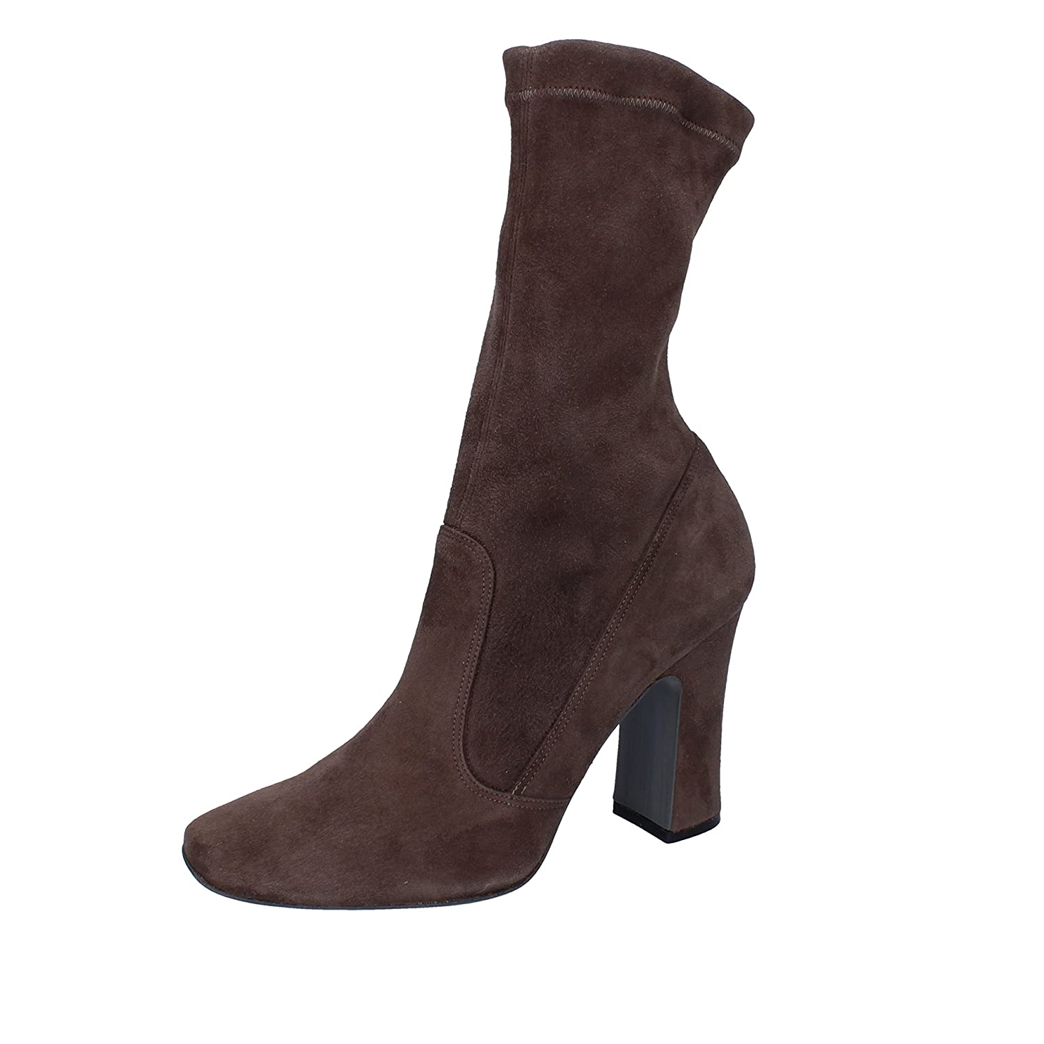 - HALSTON Boots Womens Suede Brown