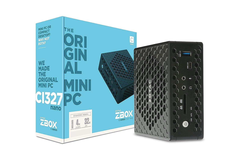 Zotac Zbox Ci327 Nano 1.10Ghz N3450 Pc De Tamaño 1L Negro Mini Pc - Ordenador De Sobremesa (1,10 GHz, Intel Celeron, N3450, 4 GB, 32 GB, Windows 10 Home)