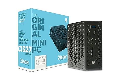 Zotac ZBOX CI327 nano mini-PC (Intel N3450 quad-core, 4GB RAM, Intel HD Graphics 500, lüfterlos, mit Windows 10 )