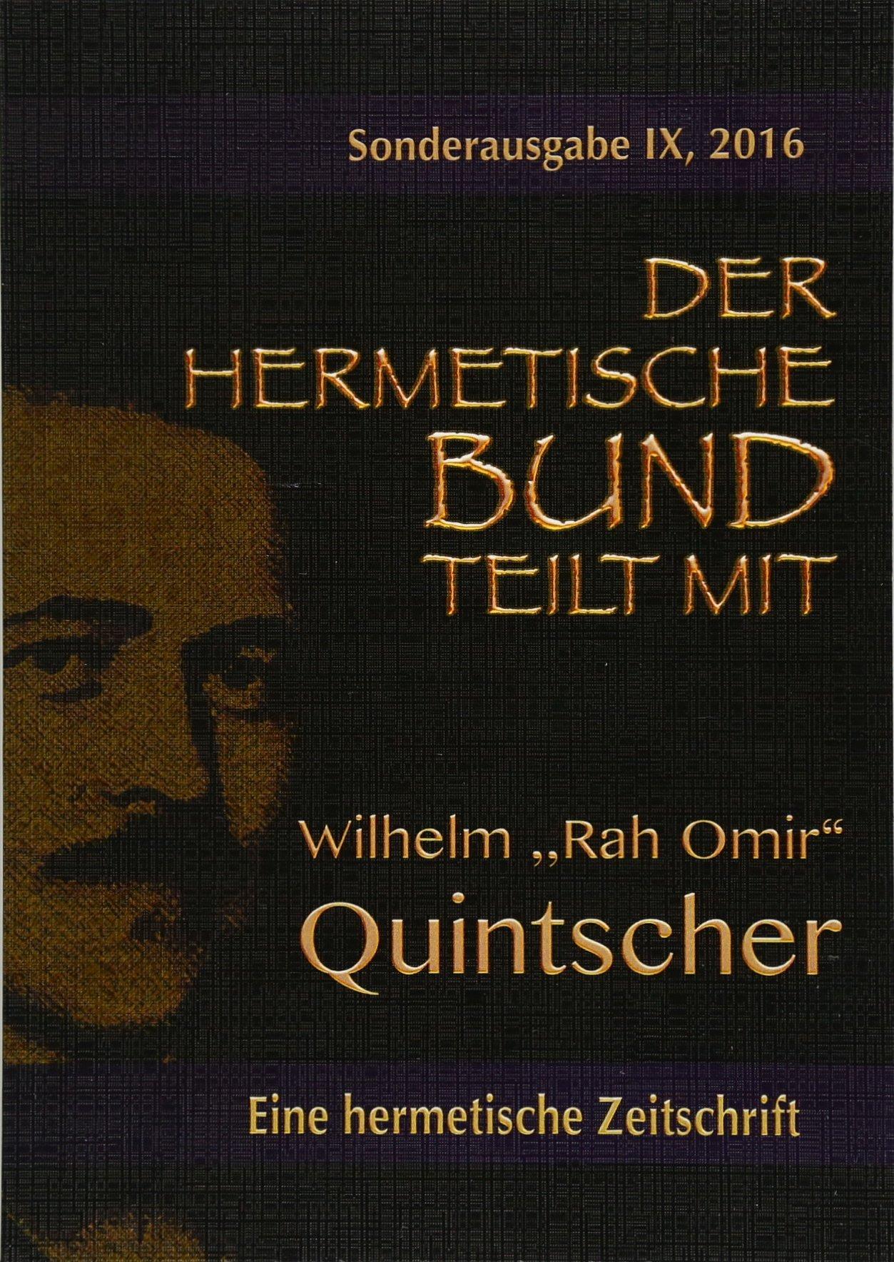 Der Hermetische Bund Teilt Mit: Sonderausgabe NR. IX (German Edition) PDF