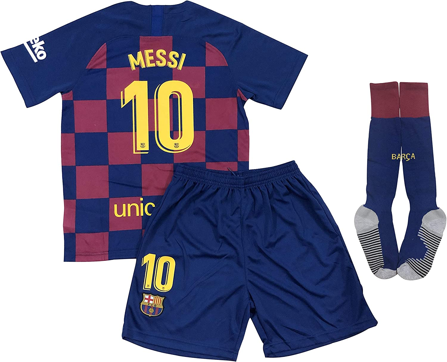 New 2020 Messi Home Jersey Shorts & Socks for Kids/Youths