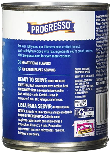 Amazon.com : Progresso Low Fat Light Creamy Chicken Alfredo with Pasta Soup 18.5 oz Can (pack of 12) : Grocery & Gourmet Food