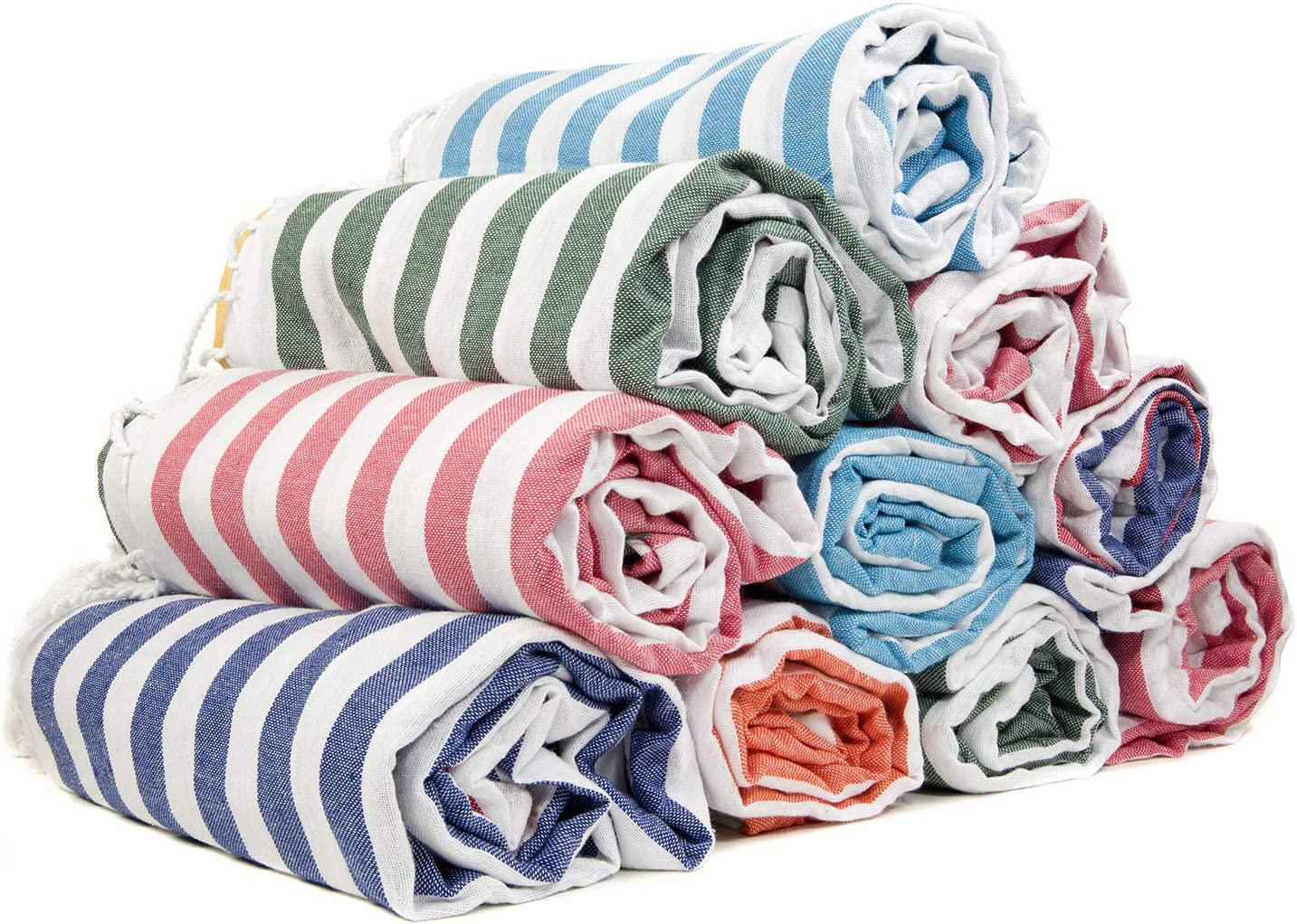 Gute (Set of 6) XXL Turkish Cotton Bath Beach Hammam Turkish Towel Sets Peshtemal Throw Fouta Blanket Set