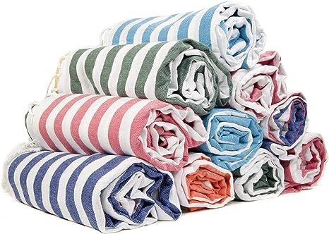 Gute - Juego de 6 toallas de algodón turco XXL para baño, playa, hammam turco: Amazon.es: Hogar