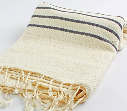 Amazon Com Cacala Hand Loomed Pestemal Striped Turkish Bath Towel