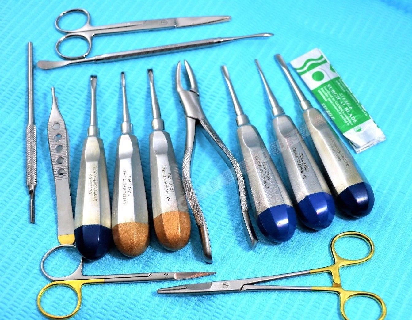 PREMIUM GERMAN SET OF 23 Veterinary Dental Extraction Instruments Kit Forceps-A+ QUALITY