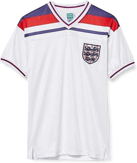 Score Draw - Camiseta de fútbol Retro de la Final de la Copa Mundial de Inglaterra 1982 para Hombre, Hombre, Camiseta de fútbol Retro, ENG82HWCFPCSSXXXLF, Blanco, 3XL: Amazon.es: Deportes y aire libre
