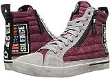 Diesel Men's D-Velows MID Patch Sneaker, Wine, 10.5