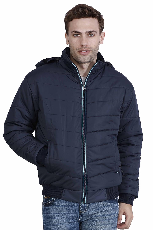 Hiver Men's Woolen Jacket (HIVER-JACKET-G ZIP-BLACL- 08-
