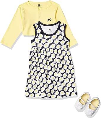 Hudson Baby Baby Girls' 3 Piece Dress, Cardigan, Shoe Set