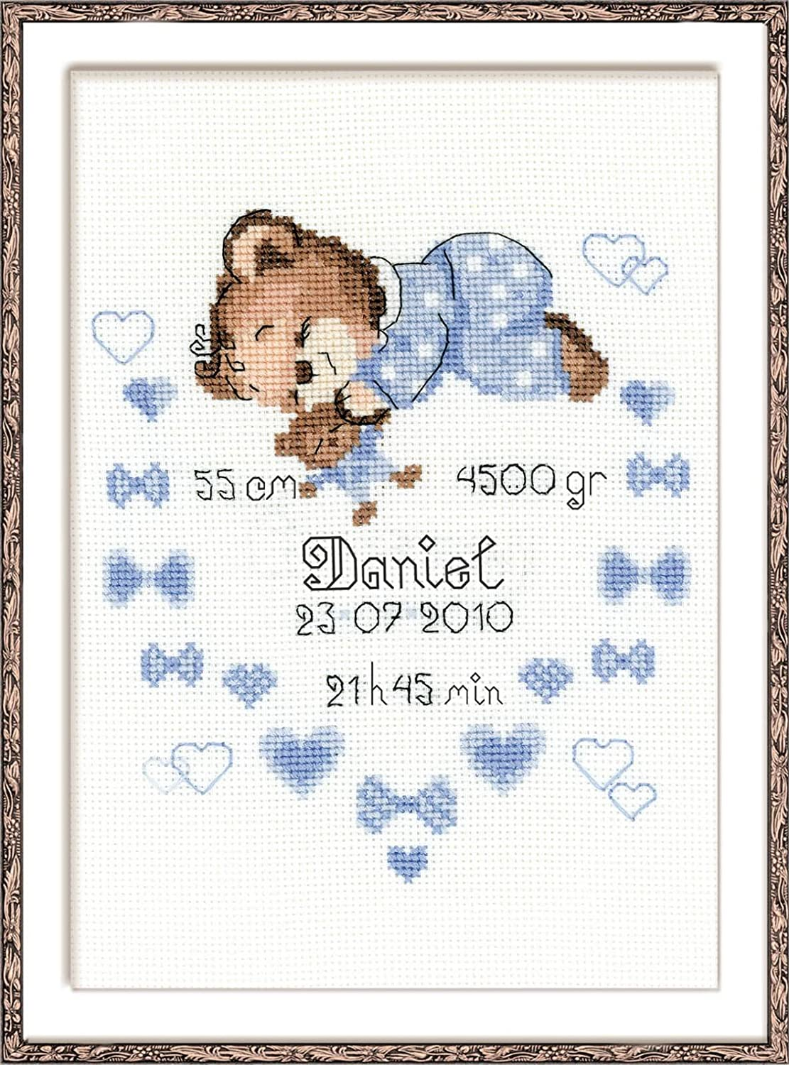 Deco Butterflies Bookmarks On Aida Counted Cross Stitch Kit-2X7 14 Count
