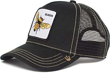 Mens Queen Bee Animal Farm Trucker Cap, Black One Size