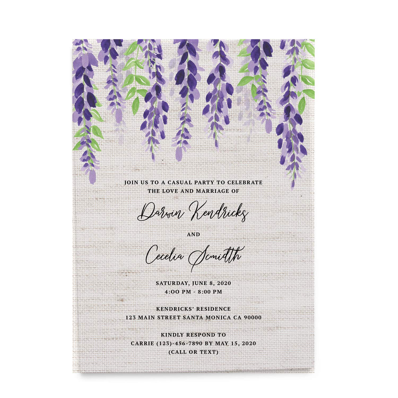 Amazon Com Rustic Invitation Cards Wedding Reception Cards