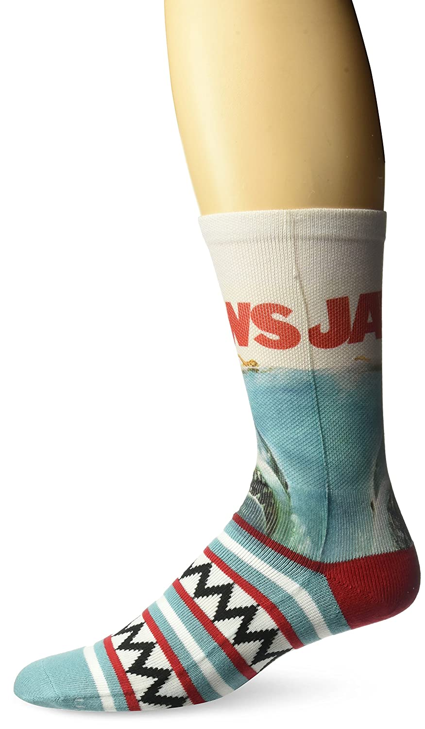 ODD SOX Jaws Movie Shark Teeth Crazy Novelty Crew Socks