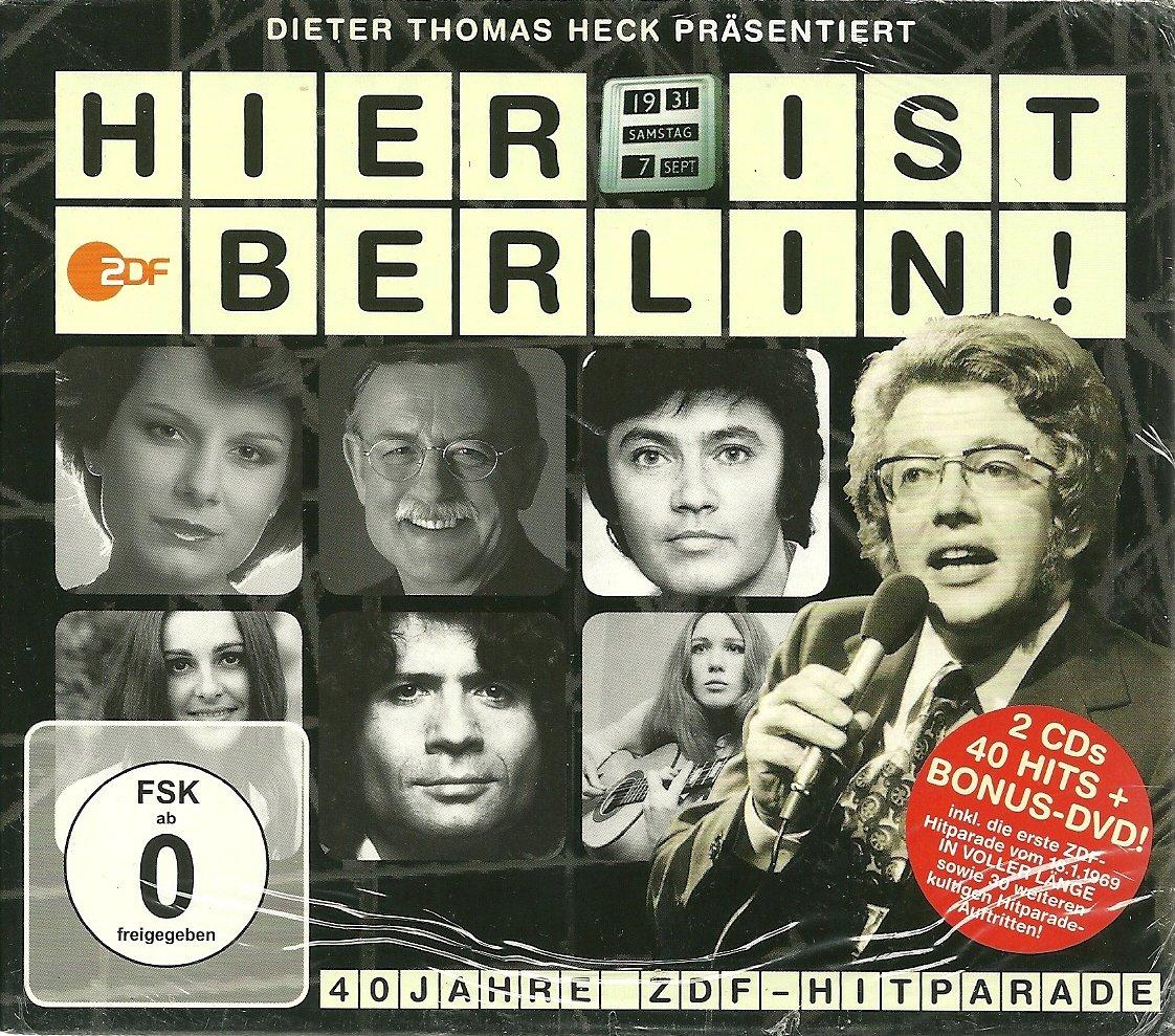 Hier Ist Berlin 40 Jahre Zdf Hitparade 2 Cd Dvd Die Komplette 1 Zdf Hitparade Von 1969 Amazon De Musik