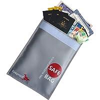 "Fireproof Money Document Bag, Fireproof Safe 15"" x 11"" Waterproof & Fire Resistant Safe Pouch for Cash, Passport…"