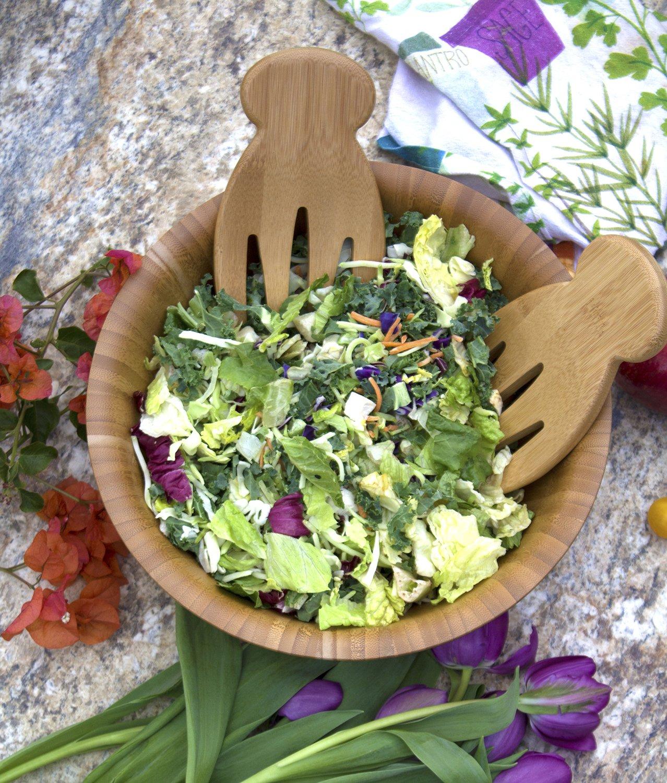 Totally Bamboo Salad Hands Bamboo Salad Server Set 20-2054