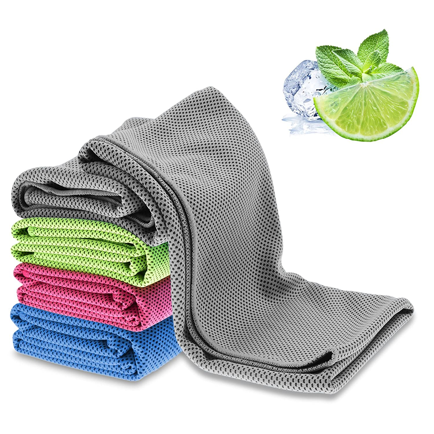 BWISH 1PCS Cooling Towel Reusable Super Soft Breathable Mesh Sweat-Absorbent Towel for Workout, Fitness, Running, Gym, Yoga, Pilates, Travel, Camping, Hiking and other Sports