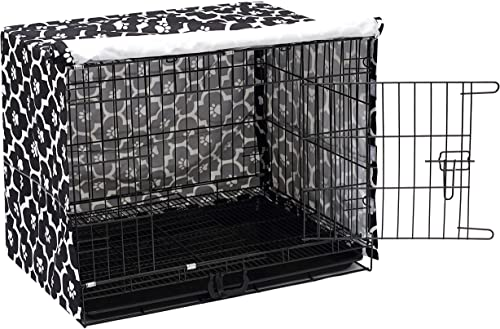 Geyecete Dog Crate Cover for Double Door Wire Dog Cage,Easy to Put On Take Off, and Adjust – Cover only