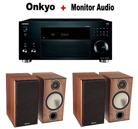 Onkyo TX RZ920 THX Certified 92 Channel Network Pair Of Monitor Audio Bronze