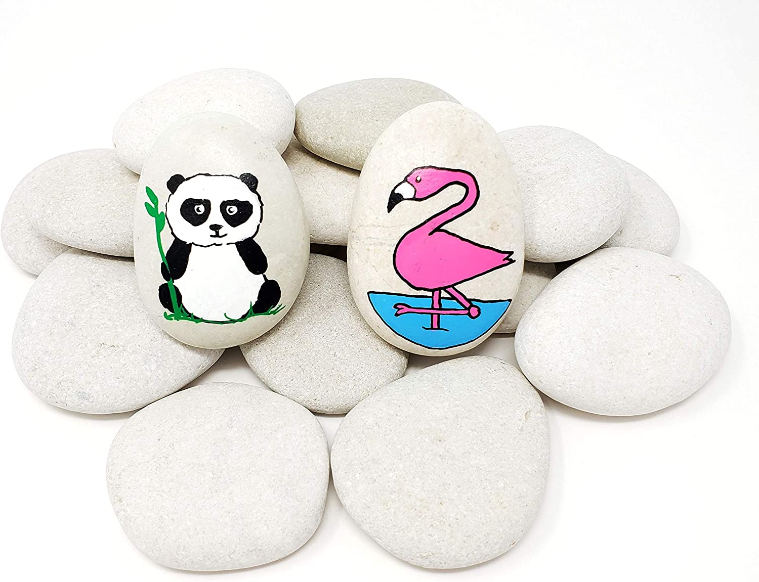 Capcouriers Painting Rocks - Rocks for Painting Kindness Rocks - About 2 inches in Length - 20 Rocks